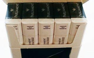 Сколько стоит пачка сигарет парламент в России