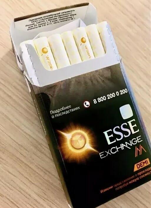 сигареты esse с кнопкой купить в москве