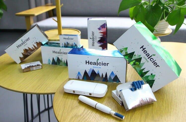 табачные стики для iqos healcier menthol безникотиновые
